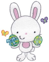 Easter Bunny & Eggs embroidery design