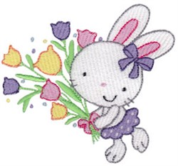 Easter Bunny & Tulips embroidery design