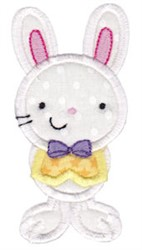 Sweet Easter Bunny Applique embroidery design