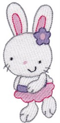 Sweet Easter Girl Bunny embroidery design
