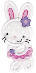 Girl Easter Bunny Applique embroidery design