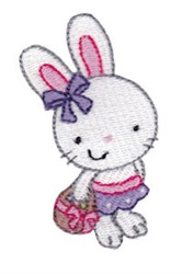 Girl Easter Bunny embroidery design