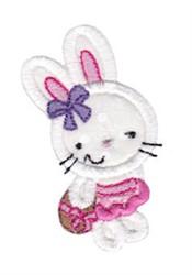 Applique Girl Easter Bunny embroidery design