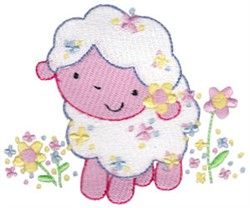 Sweet Easter Lamb embroidery design