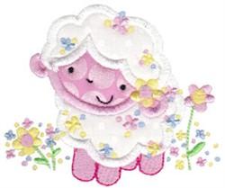Easter Lamb Applique embroidery design