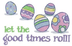 Easter Eggs Rolling embroidery design