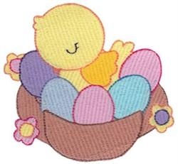 Easter Basket & Eggs embroidery design