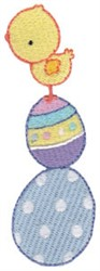 Easter Chick & Eggs embroidery design
