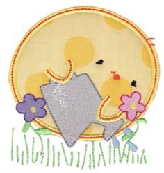 Chickadee Applique embroidery design