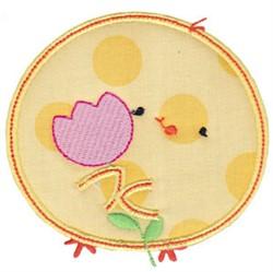 Chickadee & Tulip Applique embroidery design