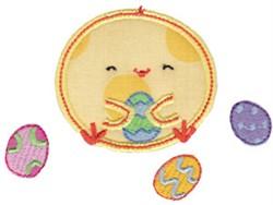 Chickadee & Eggs Applique embroidery design