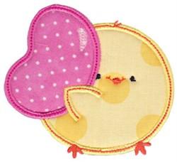 Chickadee & Jellybean Applique embroidery design