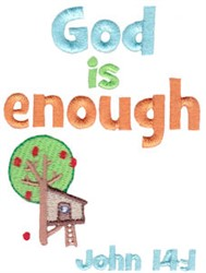 God Is Enough embroidery design
