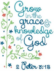 Grow In Gods Grace embroidery design
