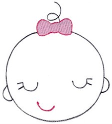 Baby Girl Outline embroidery design