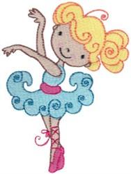 Blonde Ballet Cutie embroidery design