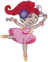 Redhead Ballet Cutie embroidery design