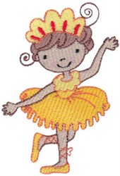 Yellow Ballet Cutie embroidery design