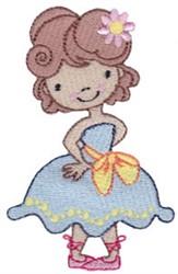 Ballet Princess embroidery design