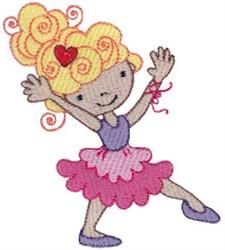 Ballet Blonde Cutie embroidery design