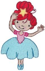 Redheaded Ballerina embroidery design