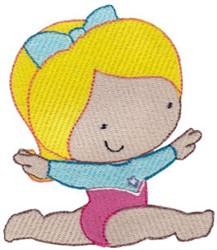 Gymnastics Girl embroidery design