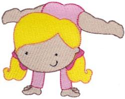 Gymnastics Handstand embroidery design
