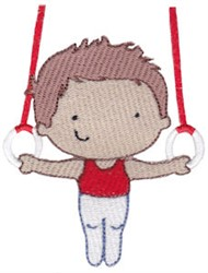 Gymnast & Rings embroidery design