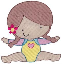 Gymnast In Splits embroidery design