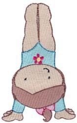 Gymnast Handstand embroidery design