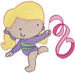 Ribbon Dancing Gymnast embroidery design