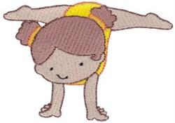 Handstand Gymnast embroidery design