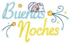Buenas Noches embroidery design