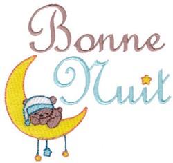 Bonne Nuit embroidery design