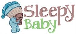 Sleepy Baby embroidery design