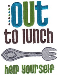 Out To Lunch embroidery design