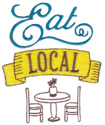 Eat Local embroidery design