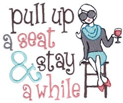 Stay Awhile embroidery design