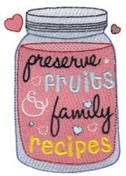 Preserve Family Recipes embroidery design