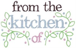 From The Kitchen Of embroidery design