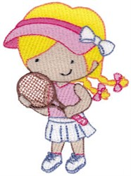 Tennis Girl embroidery design