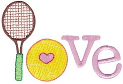 Tennis Love embroidery design