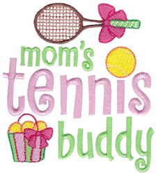 Moms Tennis Buddy embroidery design