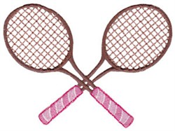Crossed Tennis Raquets embroidery design