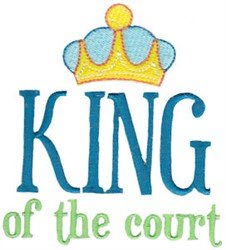 King Of The Court embroidery design