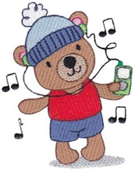 Rocking Teddy Bear embroidery design