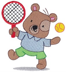 Tennis Teddy Bear embroidery design