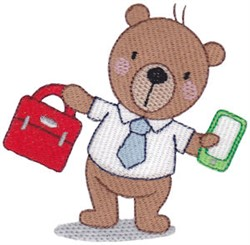 Office Bear embroidery design