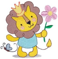 Lion King & Flower embroidery design