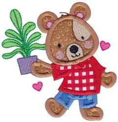Teddy Bear Applique embroidery design